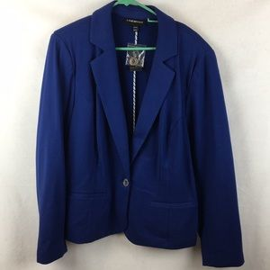 Lane Bryant Royal Cobalt Blue Blazer 22/24
